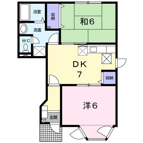 桜華・01020号室の間取り