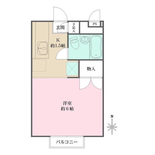 リッツハウス新宿・204号室の間取り