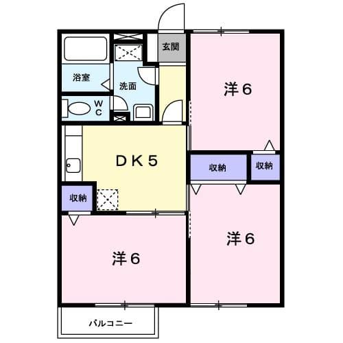 グリ-ンコ-ト1番館・01020号室の間取り