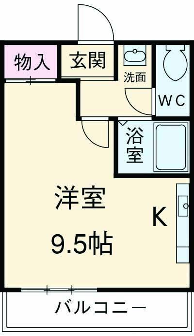 マスターズエル松ノ浜582・303号室の間取り