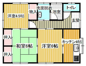 大和田住宅・A号室の間取り