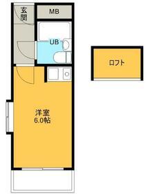 ハイデ野田・0201号室の間取り