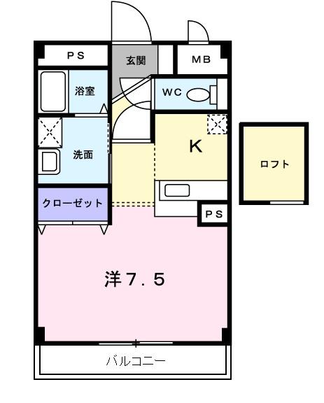 メゾン・エトワールⅡ・02020号室の間取り