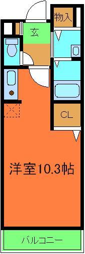 ボナール津久野・02010号室の間取り