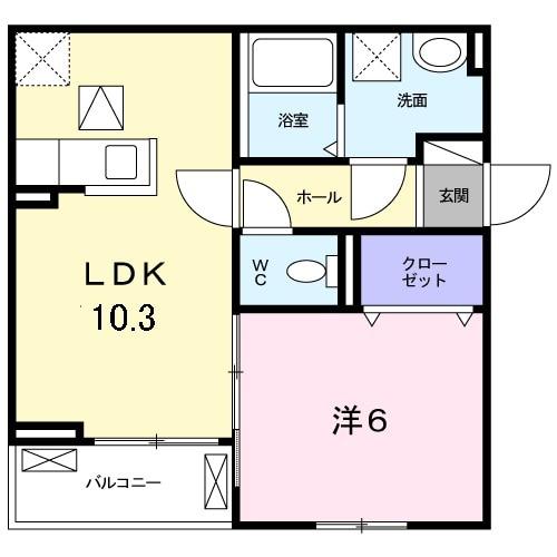Virtu palazzo豊中・01030号室の間取り