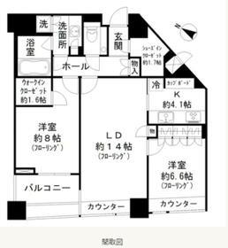 パークコート赤坂ザタワー・3508号室の間取り