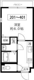 Grand Residence OJI・401号室の間取り