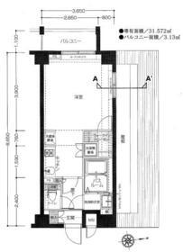 エルミタージュ東高円寺・501号室の間取り