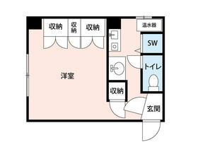 パペーテ桜橋・101号室の間取り
