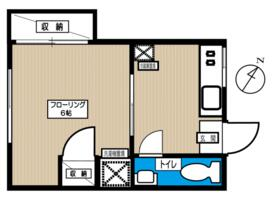 砥川荘・202号室の間取り