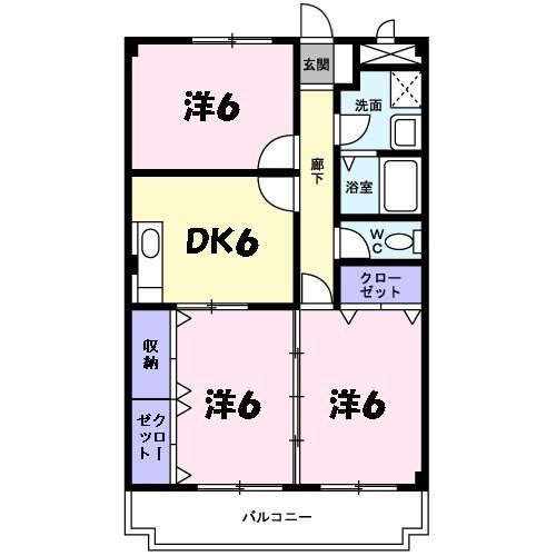 ディアコート横山・02020号室の間取り