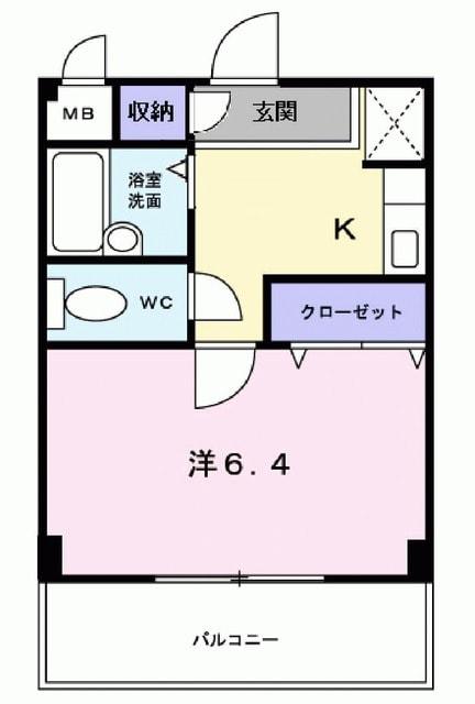 アルトピア-ノ・02060号室の間取り