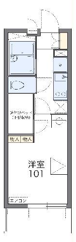 レオパレスOKANISHI 306号室の間取り