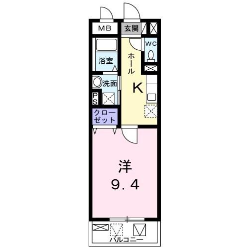 ラ ヴィータ西梅田・04020号室の間取り