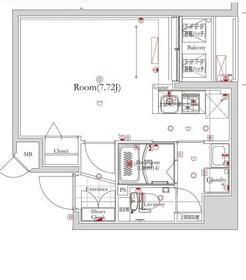 フェルクルールプレスト押上Ⅱ・5F号室の間取り