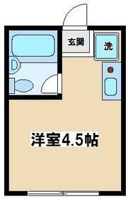 コーポ久松・107号室の間取り