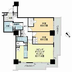 グローリオタワー横浜元町・901号室の間取り