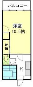 平井ショッピングセンター・507号室の間取り