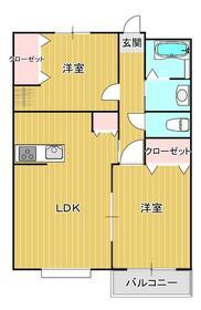シャンボール・ド・クレ A棟・102号室の間取り