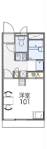 レオパレスObuRyusei・107号室の間取り