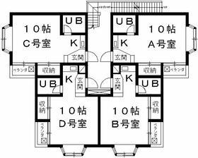 ヒューゲル京都・2-D号室の間取り