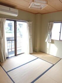 カサデコスタ 201号室のベッドルーム