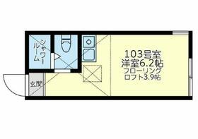 ユナイト大口クリストーバル コロン 103号室の間取り