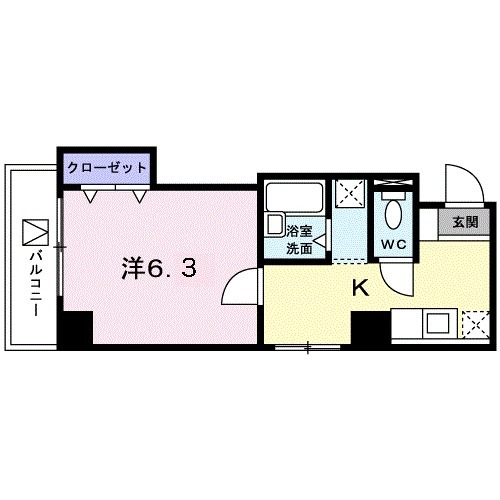 クレアトゥール新宿・07020号室の間取り