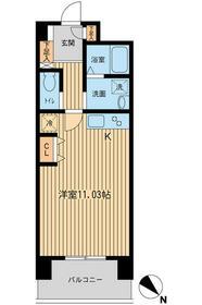 六本木ライズハウス・0402号室の間取り