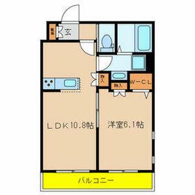グランツ鎌ヶ谷WEST・305号室の間取り