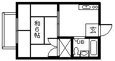 ループ芹川A棟・205号室の間取り