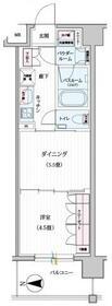 パレステージ江北Ⅲ東館・404号室の間取り