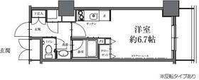 HF駒沢公園レジデンスTOWER・0208号室の間取り
