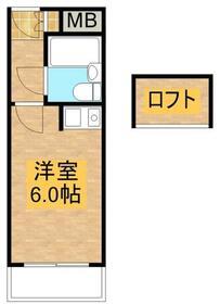 ハイデ野田 0307号室の間取り