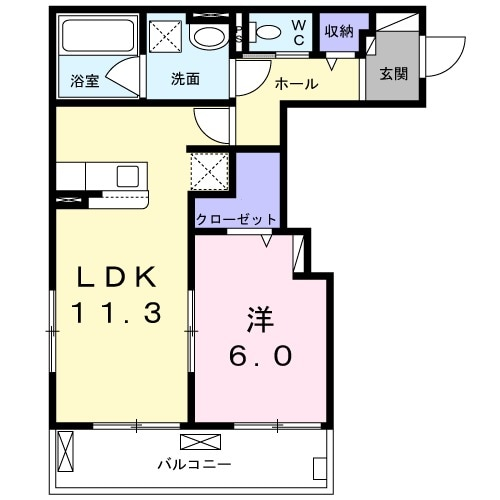 Purete大岡山(ピュリテ 02030号室の間取り