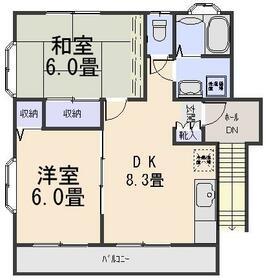 ガーデンハウス山勝・221号室の間取り
