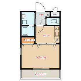 ル・ルージュ横浜・207号室の間取り