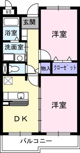 ドリ-ム KⅠ・02010号室の間取り