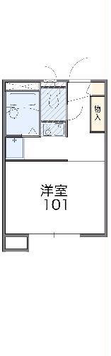 レオパレスブランシェ海老名Ⅲ・101号室の間取り