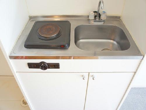 レオパレスアイビー 101号室のキッチン