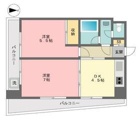北新宿コーポ 101号室の間取り