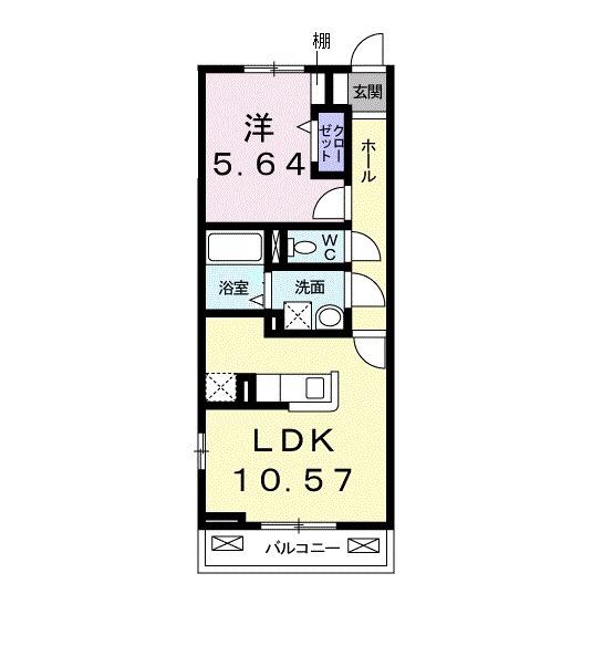 ウェルバ-ド高島平・02030号室の間取り