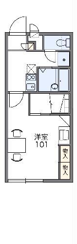 レオパレス鹿ノ子田1・110号室の間取り