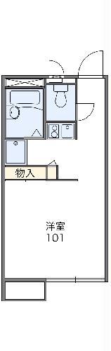 レオパレス上飯田・102号室の間取り