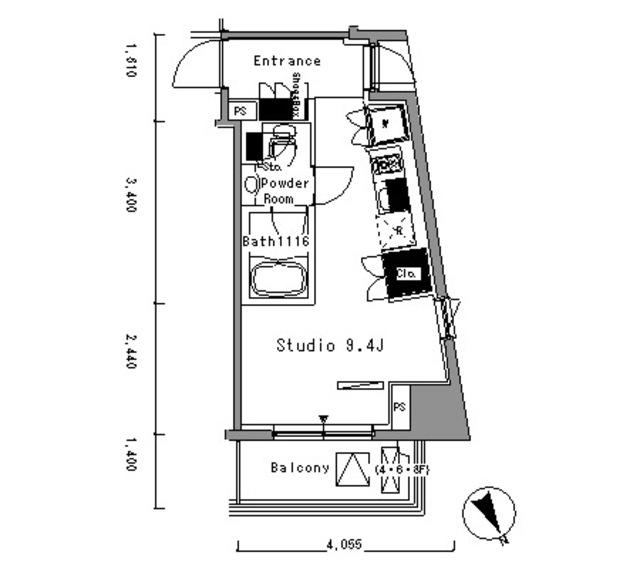 パークアクシス新板橋ウエスト・603号室の間取り
