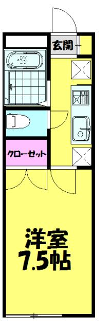 アムール上福岡・109号室の間取り