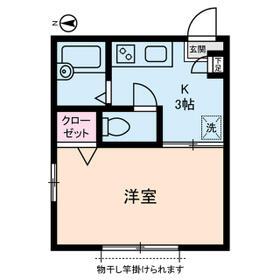 八洲ハウス 0205号室の間取り