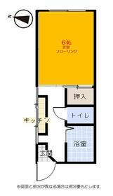 ハーモニーコジマ・2B号室の間取り