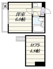 ジュネパレス松戸第50・0104号室の間取り