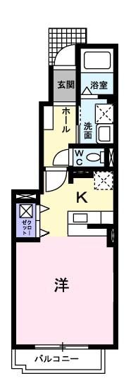 フルハウス・01010号室の間取り